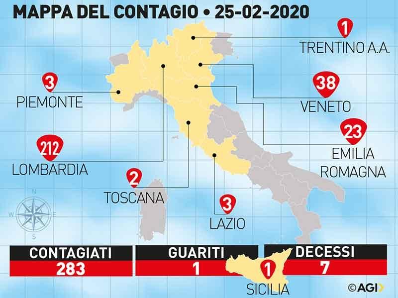 Распространение коронавируса в Италии